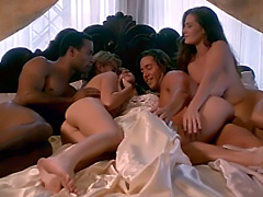 Debra Beatty nude group sex scene on bed