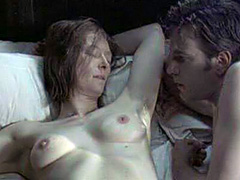 Tilda Swinton topless sex scene in bed