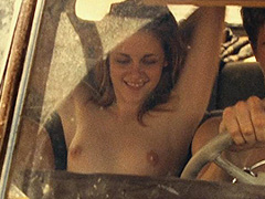 Kristen Stewart topless gives the guys handjobs