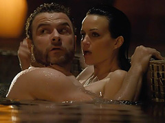 Carla Gugino nude sex in a swimming pool