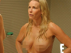 Chelsea Handler naked completely in a shower