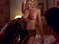 Jessica Collins topless in threesome sex act