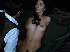 Barbara Goenaga nude tits and bush in sex scene