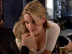 Bridgette Wilson showing sweet cleavage