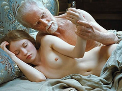 Emily Browning naked completely sleeping in bed
