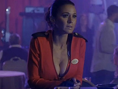 Emmanuelle Chriqui hot in waitress outfit