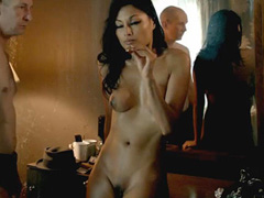 Kira Clavell naked in very vigorous sex scene