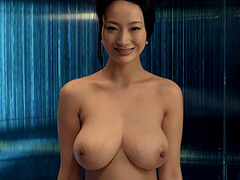 Danielle Wang naked shows her large breasts