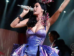 Katy Perry hot while performing on stage