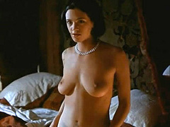 Asia Argento naked shows big tits and bush