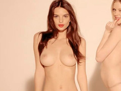 Emily Ratajkowski topless in a music video