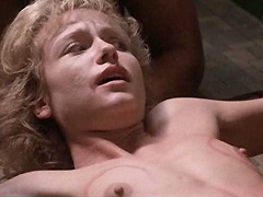 Linnea Quigley naked in forced sex scene