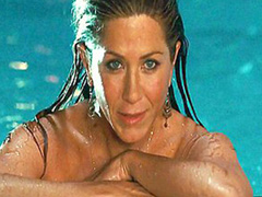 Jennifer Aniston nude jumping into pool