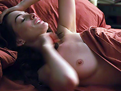 Anne Hathaway topless has sex with a guy