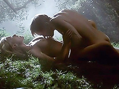 Anna Paquin naked in a moonlit sex scene