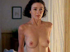 Emily Mortimer topless shows big breasts