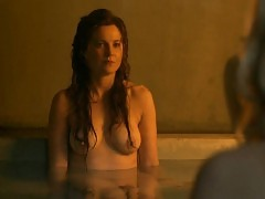 Lucy Lawless And Viva Bianca Nude Boobs In Spartacus Series