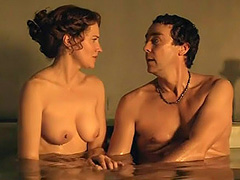 Lucy Lawless topless shows big firm tits