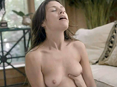 Hannah Ware naked riding a guy on the floor