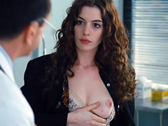Anne Hathaway nude holds big tits and sex scene
