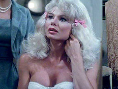 Loni Anderson looks sexy in a white bustier