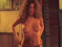 Angie Cepeda topless showing big breasts