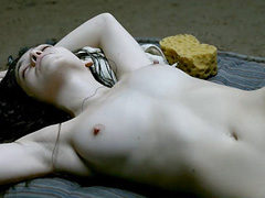 Jemma Dallender naked lying on the floor