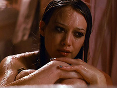 Hilary Duff naked sitting in a buth tub