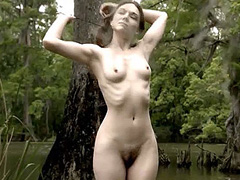 Jennifer Lynn Warren nude swimming in the lake